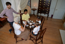 Family Day Tea in the Master Bedcahmber