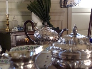 Tea in the master bedchamber